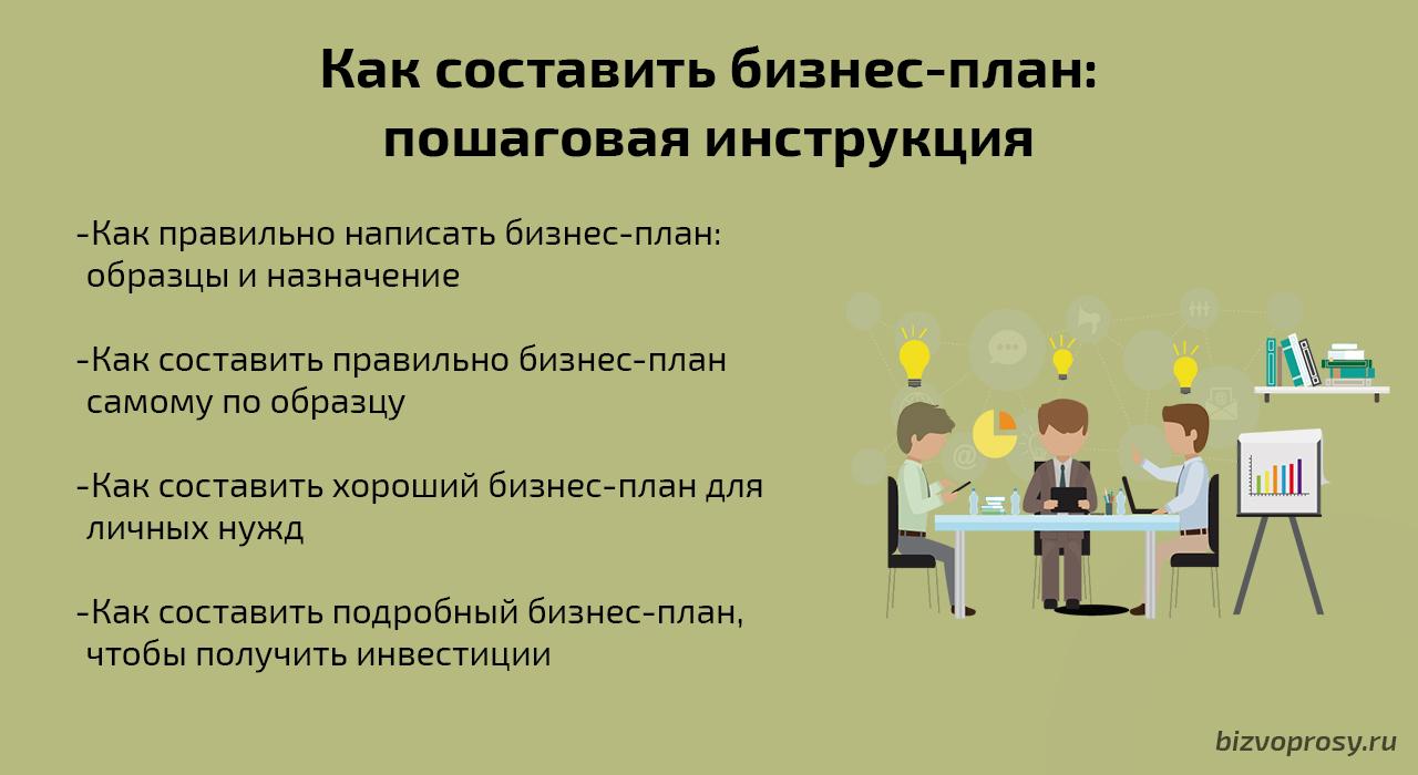 Как сделать бизнес план про